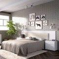 Dormitorio Alice blanco brillo roble gris