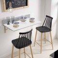 Mesa de cocina abatible laminado blanco Ainhoa