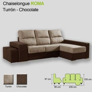 Chaiselongue Roma Turrón Chocolate