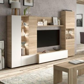 Mueble sala ESSENTIAL con luces led