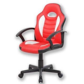 Silla de escritorio DINA roja y blanca