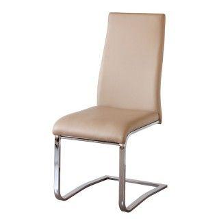 Pack de 4 sillas salón comedor CAMILA tapizado beig