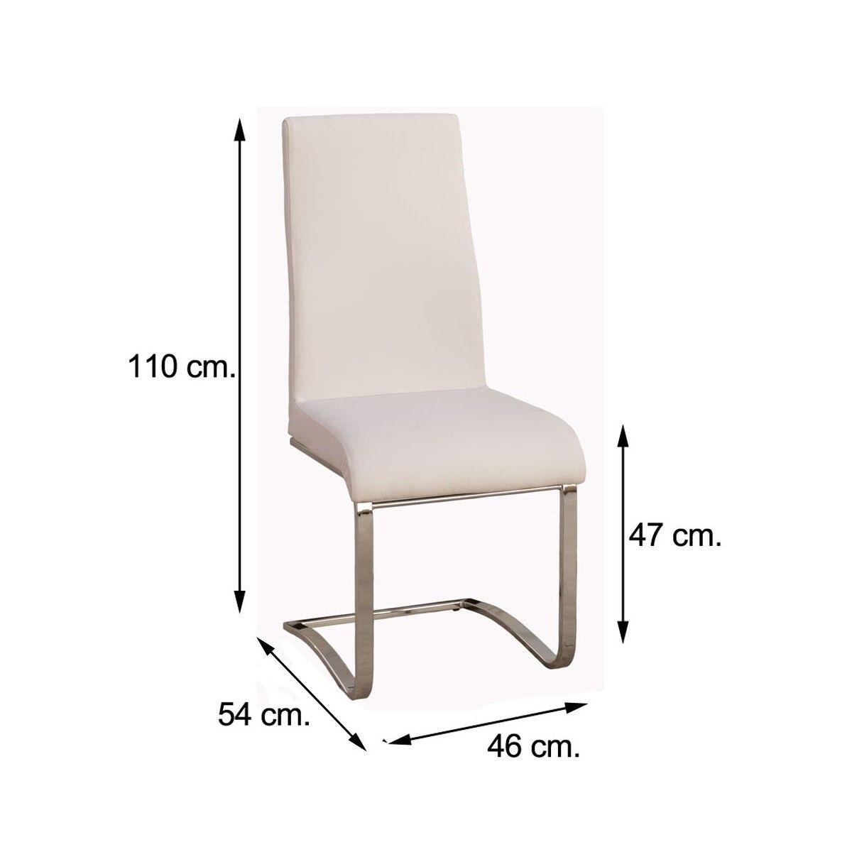 sillas de comedor polipiel blanca
