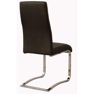 Pack de 4 sillas salón comedor CAMILA tapizado negro