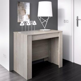 Mesa Consola Extensible KIONA color Roble Gris