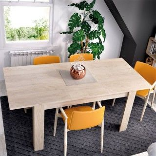 Mesa Comedor Extenxible Dine Roble Natural Cerrada
