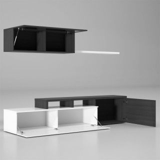 Mueble Salón NEXUS 01667G 200 cm. Blanco Ceniza