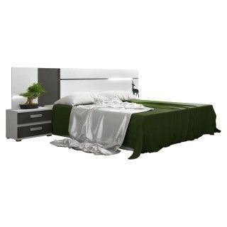 Dormitorio CARMEN LEDs Cabecero Con Dos Mesitas