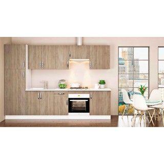 Muebles de cocina MARTA, mueble en kit color roble