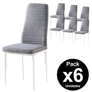 Pack 6 Sillas Salón YUKA Pata Negra