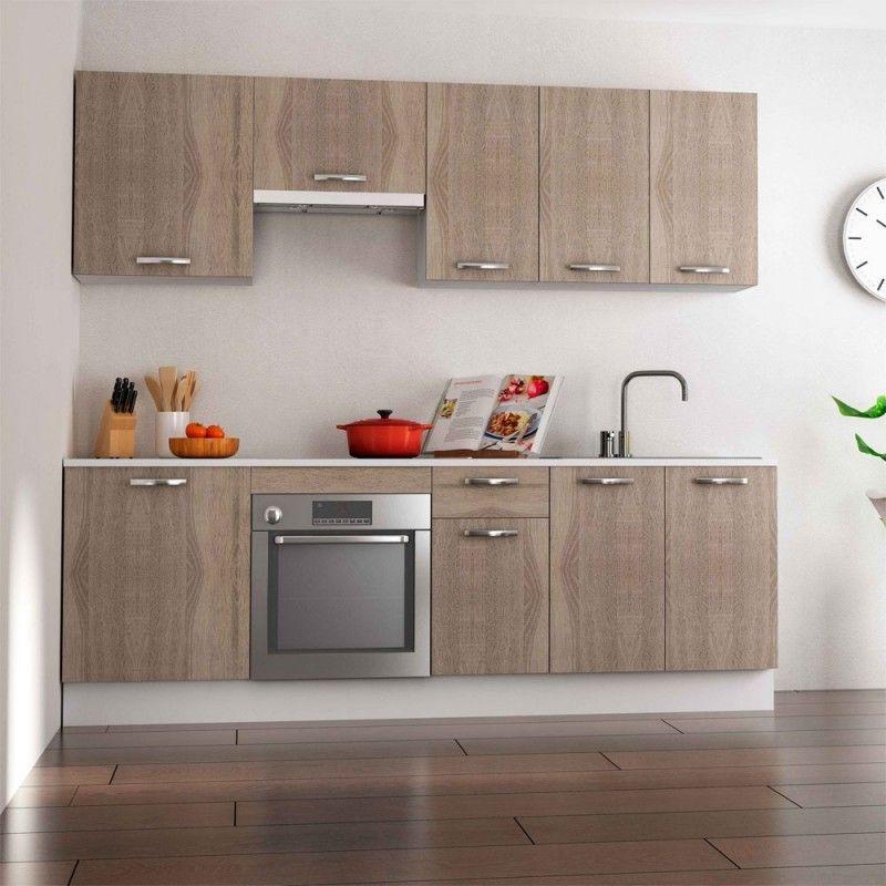 Muebles de cocina TOLEDO color roble| En fanmuebles cocinas baratas