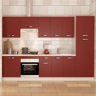 Muebles de cocina en kit MARTA burdeos