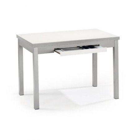 Mesa de cocina extensible Marta con cajón