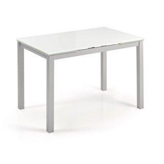 Mesa de cocina extensible cristal KATY Negro