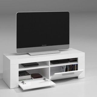 Mueble TV AMBIT Blanco Brillo