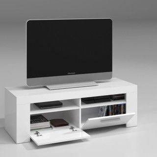 Mueble TV AMBIT en blanco brillo