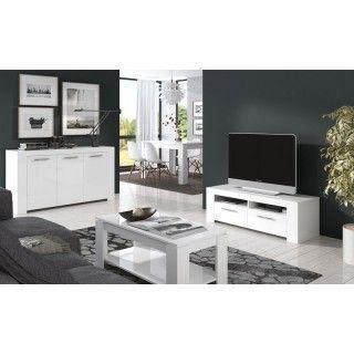 Mueble de Televisión blanco Ambit