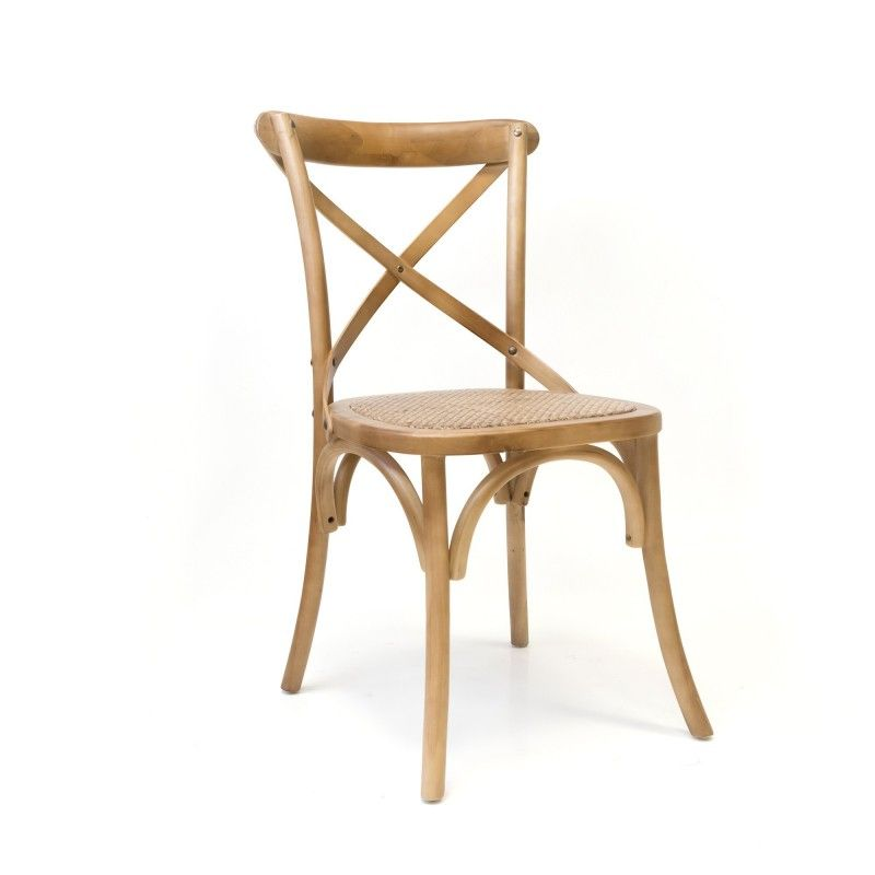 Silla MANOSQUE en madera de abedul color roble