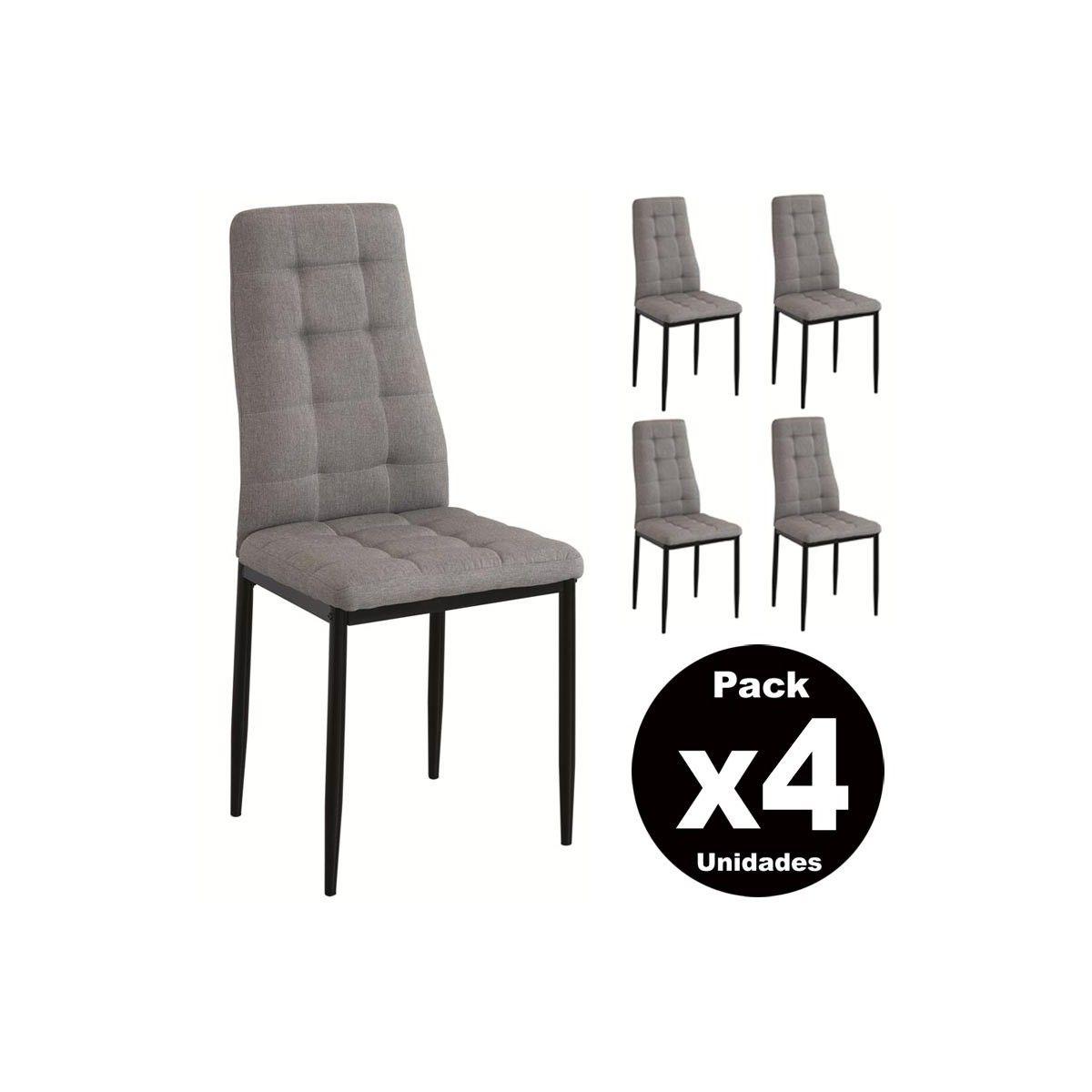 Pack 4 sillas salón comedor SONIA | Sillas tapizadas baratas