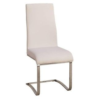 Pack de 4 sillas salón comedor CAMILA tapizado blanco