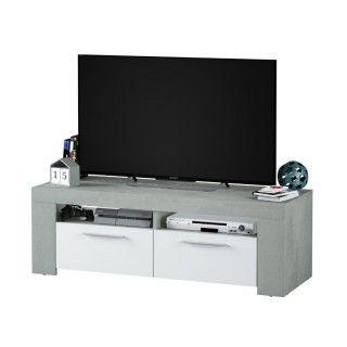 Mueble de televisión AMBIT cemento blanco Artik