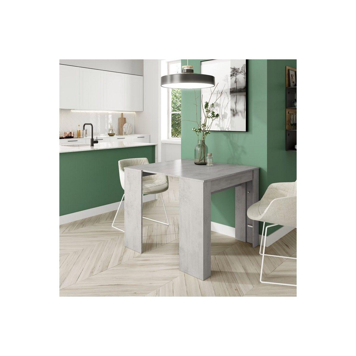 Mesa consola extensible color cemento | Mesa comedor extensible barata