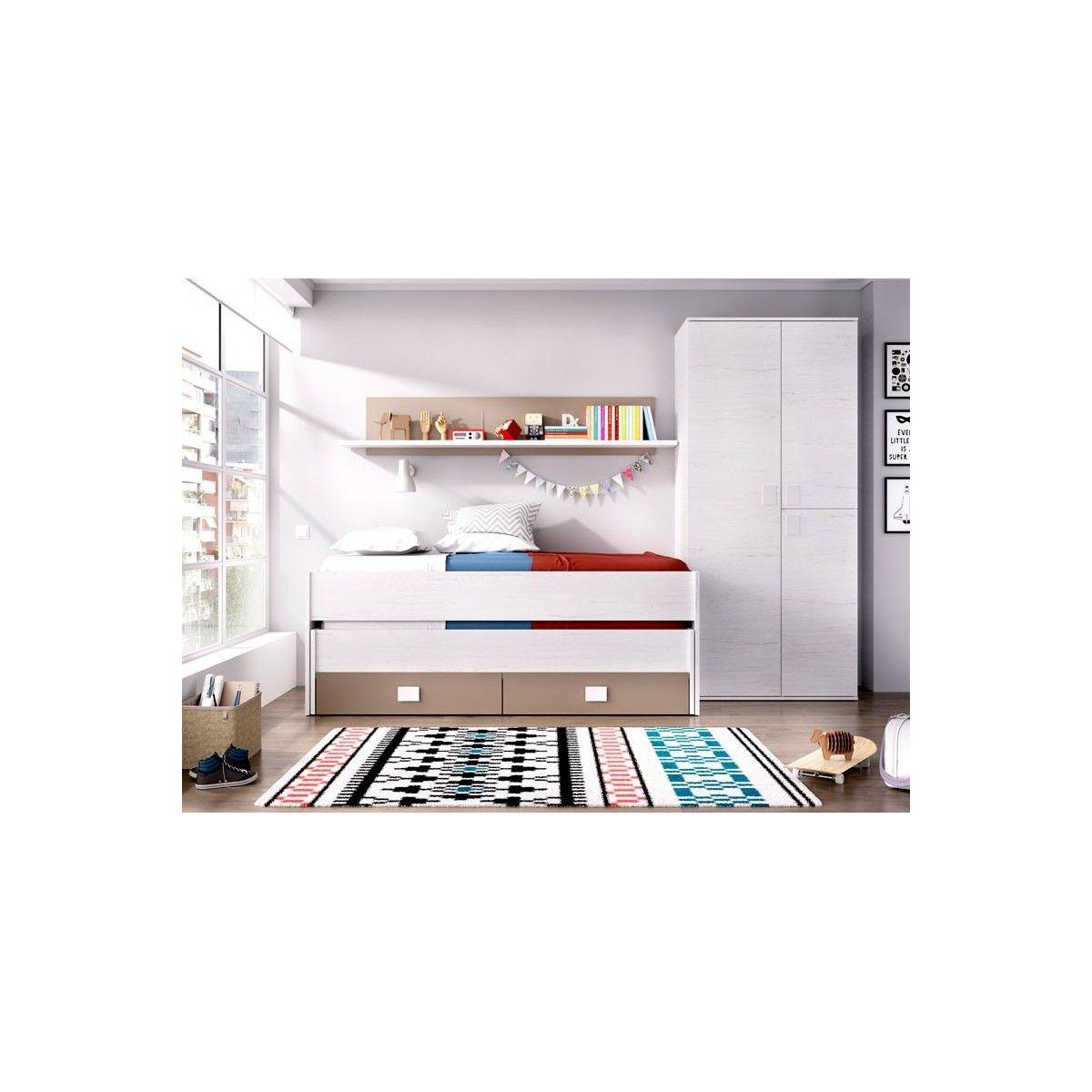 Armario 3 puertas blanco clein armarios baratos for Armarios juveniles baratos online