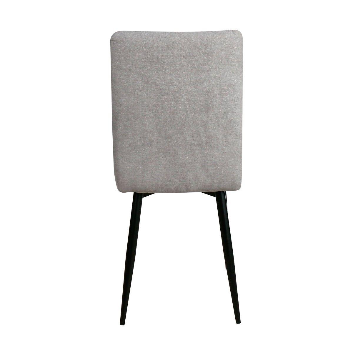 Silla comedor barata Nilo tapizada en gris | Caja 4 unidades