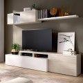 Mueble salón compacto Elle roble Gris