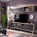 Mueble salón compacto Bonn natural grafito