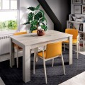 Mesa comedor extensible Dine color roble Gris