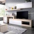 Mueble salón adaptable Lebo blanco natural