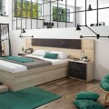 Dormitorio Alaya Oxido cabecero y dos mesitas