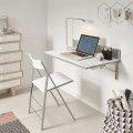 Mesa de cocina abatible cristal blanco Andrea
