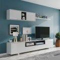 Mueble de salón Belus blanco antracita