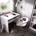 Mesa escritorio juvenil blanca DJ
