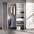 Armario vestidor Suit a medida con cortina y cajón