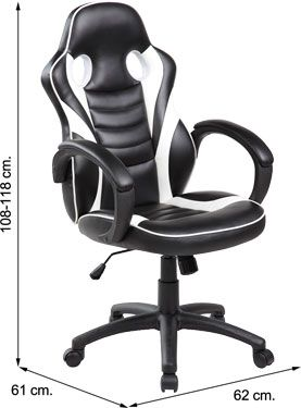 Sof-14 Silla GAMER PRO BLACK STATION negra