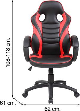 Sof-14 Silla EXTREME RED PLAYER gamer roja