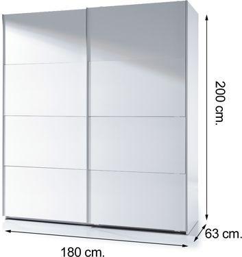 Armario arc180bo puertas correderas blanco brillo m s - Armario 180 ancho ...