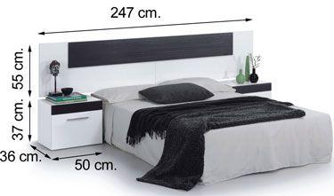 036076BO dormitorio TEMPUS blanco brillo negro malla