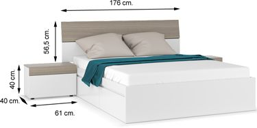 0B6096BO dormitorio SWING blanco brillo fresno
