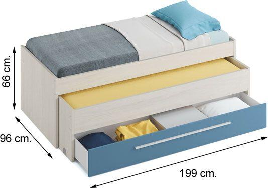 0A7438Y Cama doble compacta AZUL