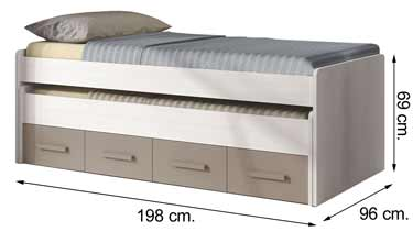 1S7437K cama doble compacta ARIES PLUS