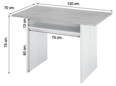 Mesa consola extensible 0L4587A Tavolo abierta