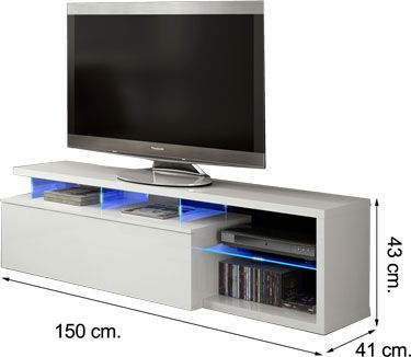 026630BO mueble salón comedor BLUE TECH LED