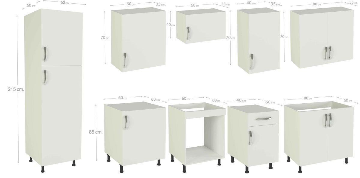 Muebles de cocina MARTA burdeos, muebles kit