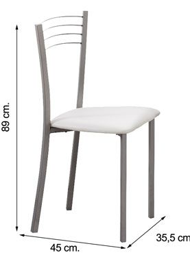 Silla PVC Blanco KITCHEN