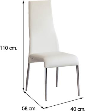 Medidas silla salón comedor PANDO