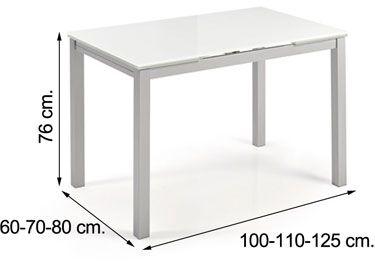 Mesa de cocina extensible KATY